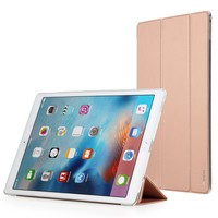 iPad Pro Case, ROCK® MOOST [Touch Series] Slim Stand Case Cover for Apple iPad Pro 12.9 Inches (2015 Release) with Auto Sleep/Wake Function (Rose Gold)