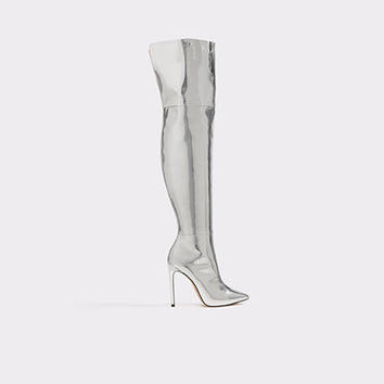 Cherima Silver Women's Over-the-knee boots | ALDO US