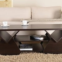 ioHOMES Chinua Modern Coffee Table, Espresso