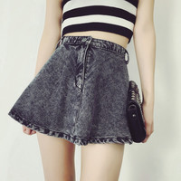 Womens Summer Denim Skirt Dress Gift 66