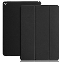 KHOMO iPad Pro 12.9 Inch Case (2016) - DUAL Black Super Slim Cover with Rubberized back and Smart Feature (Built-in magnet for sleep / wake feature) For Apple iPad Pro 12.9 Tablet