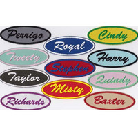 Custom Patch 1.5 X 4 Oval Embroidered Patch Name Patch Personalized *