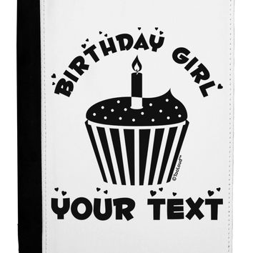 Personalized Birthday Girl Cupcake -Customizable- Name Ipad Mini Fold Stand  Case by TooLoud