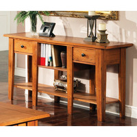 Steve Silver Liberty Sofa Table in Light Wood