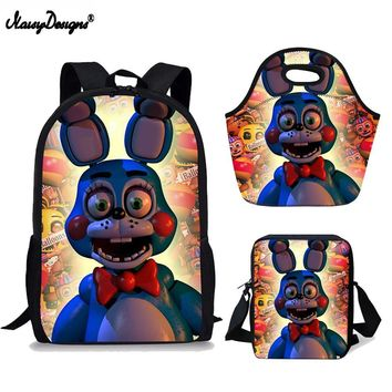 3set PCS Backpack Childrens 17Inch Kids  at Anime Backpack Children Schoolbags For Teen Girls School Book Bag
