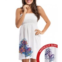 Smocked Beach Cover-Up - Lily Splash - Women's - Apparel