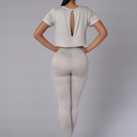 North West Jumpsuit - Heather Grey