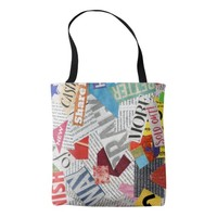 newspaper tote bag