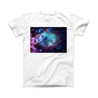 The Trippy Space ink-Fuzed Front Spot Graphic Unisex Soft-Fitted Tee Shirt