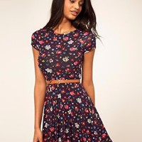 ASOS | ASOS Skater Dress In Ditsy Floral at ASOS