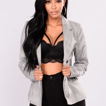 Cienna Blazer - Black/White