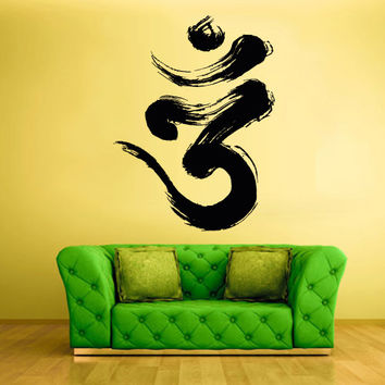 Wall Decal Vinyl Sticker Decals Hindu Om Draft Buddha Indian (z1359)