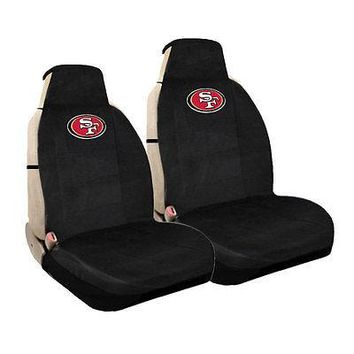 Licensed Official New NFL San Francisco 49ers Universal Fit Car Truck Front Sideless Seat Covers