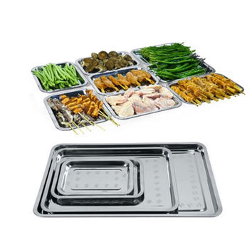 BBQ Stainless Steel Food Tray Travel Pack