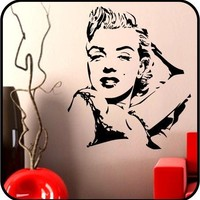 large MARILYN MONROE Vinyl Wall Decals Stickers Removable Art Graphics | TouchofVinyl - Housewares on ArtFire