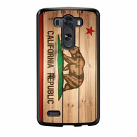 California Republic State Flag Wood Design LG G3 Case