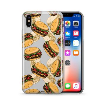 Burger Overload  - Clear Case Cover Phone Case