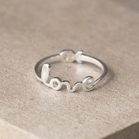 Love Sterling Silver Ring