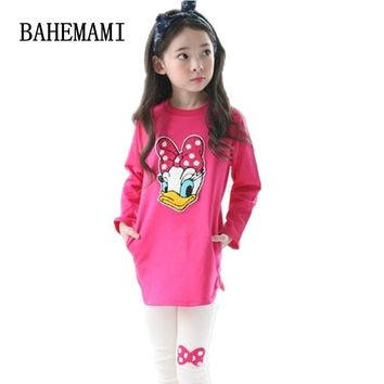 BAHEMAMI Childrens Clothing Set Casual Cartoon Girls Clothes Long Sleeve Spring Autumn Kids Suits for 3 4 5 6 7 8 9 10 Year Girl