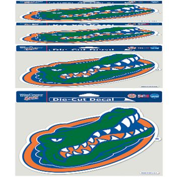 """FLORIDA GATORS LOGO 8""""X8"""" COLOR DIE CUT DECAL BRAND NEW  SHIPPING WINCRAFT"""