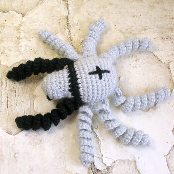Amigurumi spider - cute crochet spider plush, crochet animal plush, bag charm, cute amigurumi kawaii, funny halloween spider