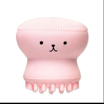 Cute Octopus Jellyfish Facial Cleansing Brush Facial Massage Exfoliating Tool