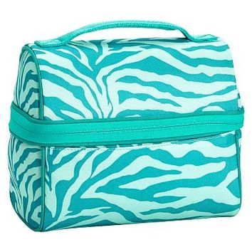Gear-Up Ceramic Pool Tonal Zebra Retro Lunch Bag