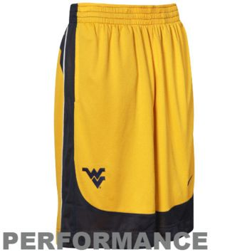 Nike West Virginia Mountaineers Old Gold-Navy Blue Reversible Performance Basketball Shorts