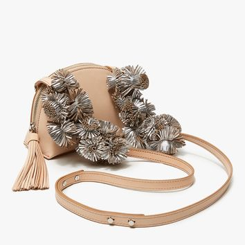 Loeffler Randall / Crossbody Pouch in Natural/Sil