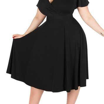 Plus Size Short Dress Mother of the Bride Formal