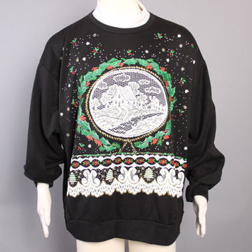 80s Ugly CHRISTMAS SWEATER / A winter WONDERLAND