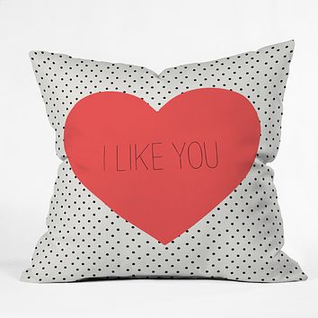 Allyson Johnson I Like You Throw Pillow
