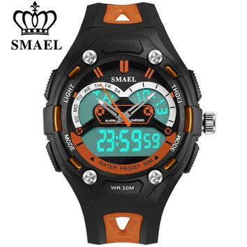 SMAEL Student Children Watch LED Digital Wristwatch Electronic Wrist Watch for Boy Gift Kids Sports Multifunction Wristwatches