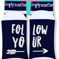 "Simply Southern ""Follow Your Arrow"" Socks"