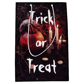 Rustic Halloween Pumpkin and Candles Medium Gift Bag