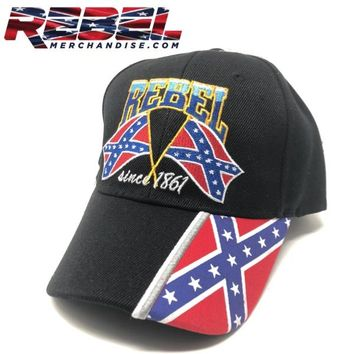 Rebel Cap Since 1861 Black (hat111)