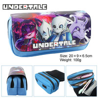 Anime Undertale Boys Girls Cartoon Pencil Case Bag School Pouches Children Student Pen Bag Kids Purse Wallet Gift