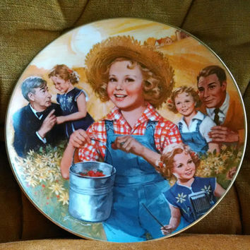 """Vintage 1985 Shirley Temple """"Rebecca Of Sunnybrook Farm"""" Limited Edition Collectible Plate-  The Shirley Temple Classics"""
