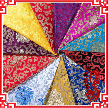 Width75cm*100cm/pc Imitation Silk Tapestry Satin Fabric Cloth Antique Jacquard Silk Satin Cloth Super Brocade Fabric Many Colors