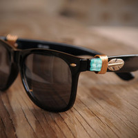 SALE: Golden Feather Wayfarer Sunglasses
