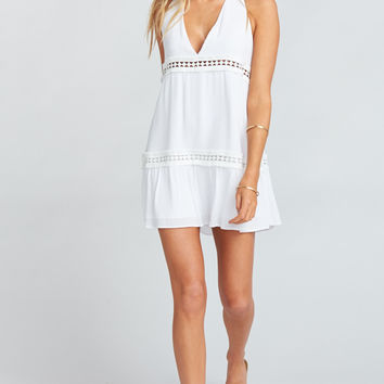Lydia Dress ~ White Cloud
