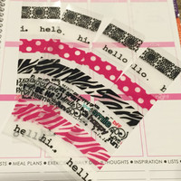FREE SHIPPING A4 Washi stickers for Erin Condren Life Planner/Plum Paper Planner