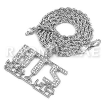 BTS Army Concert Korean Lettered Pendant w/ 4mm Rope Chain