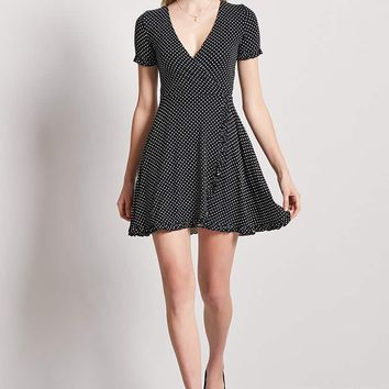 Polka Dot Ruffle Skater Dress