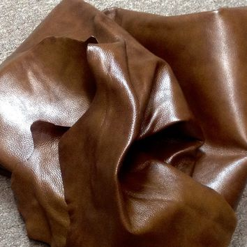 BR523. Camel Color Leather Cowhide