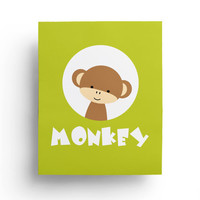 Monkey Nursery Decor, Safari Nursery, Boys Room Nursery decor, Animal Nursery Prints, Jungle Nursery art, Animal Print