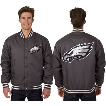 Philadelphia Eagles Poly Twill Jacket - Charcoal