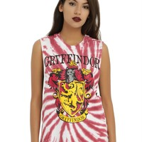 Licensed cool WB Harry Potter GRYFFINDOR House Crest Tie Dye Muscle Tank Top Shirt S-L NEW