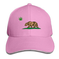 Cali Weed California Flag Sandwich Peaked Baseball Hats