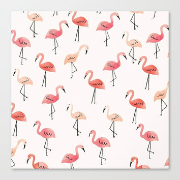 Flamingo Fun Canvas Print by allisone